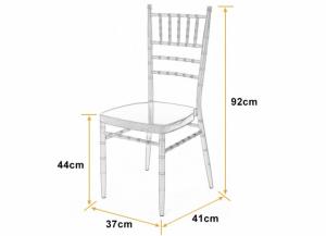 kích thước ghế tiffany, chiavari