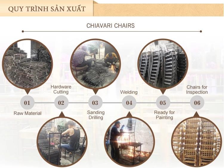Quy trình sản xuất 6 bước của ghế tiffany, ghế chiavari